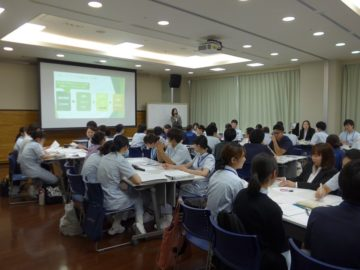 愛知県内総合病院にて新人フォローアップ研修の画像