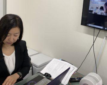 徳島県歯科法人にてzoom面談型研修の画像